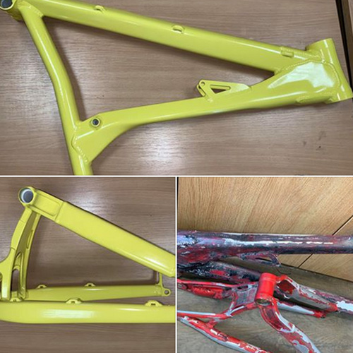 Bike Frame restored and Powder Coated by Worcester Powder Coating in Worcestershire